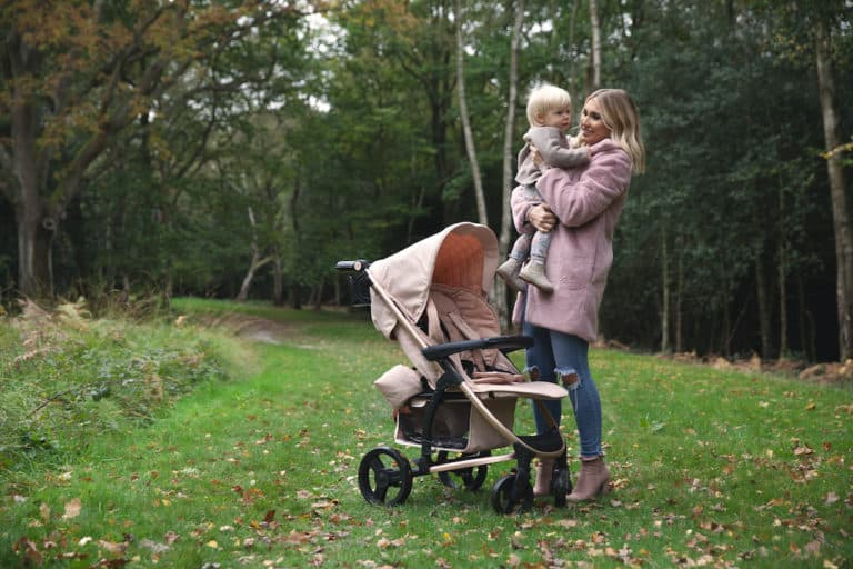 My Babiie Billie Faiers MB200 Rose Gold and Blush Pink Stroller Pushchair Buggy