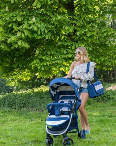 Billie Faiers MB30 Blue Stripes Pushchair