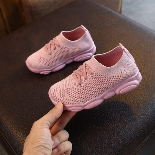 Itty Bitty Pink Mesh Fashion Trainers