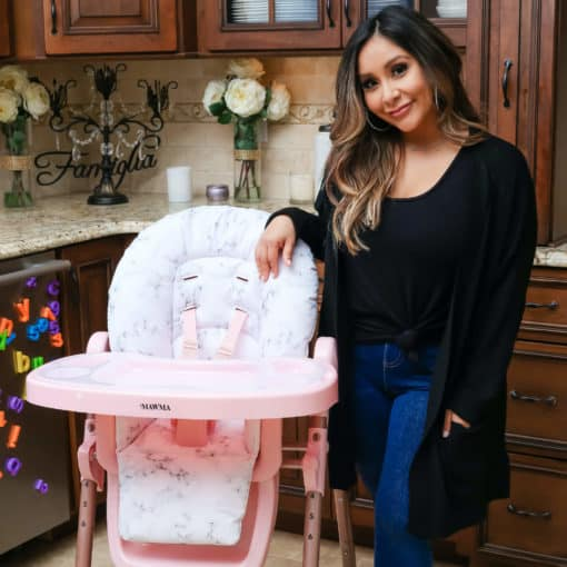 Snooki MAWMA Rose Gold Marble Premium Highchair