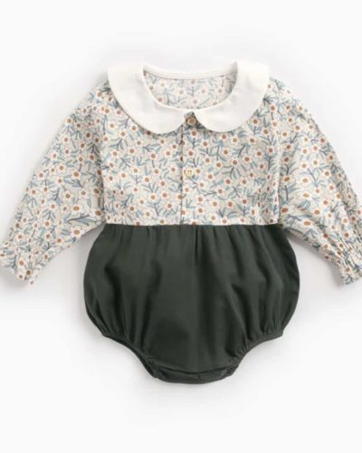 Itty Bitty Long Sleeve Ditsy Floral Romper