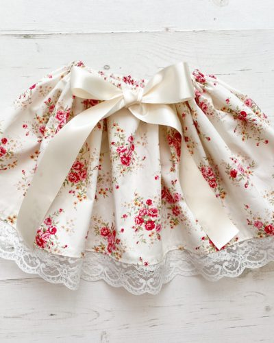 Itty Bitty Premium Vintage Floral Lace Skirt
