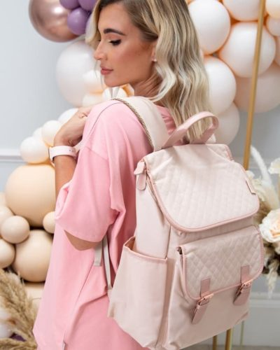 Billie Faiers Rose Gold Blush Backpack Changing Bag