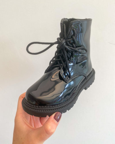 Itty Bitty Princess Black Patent Super Shine Boots