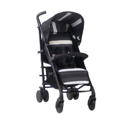 Christina Milian AMPM MB51 Charcoal Stripes Rose Gold Stroller