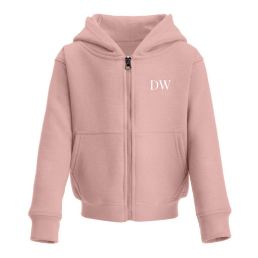 Itty Bitty Limited Edition Girls Pink & Rose Gold Sparkle Personalised Zip Up Hooded Tracksuit