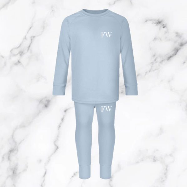Itty Bitty Dusty Blue Personalised Initials Lounge Set