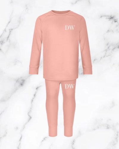 Itty Bitty Dusty Pink Personalised Initials Lounge Set