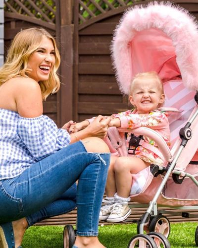 "Designed in collaboration with Billie Faiers as part of her ""Signature Range"", our trend-setting pink chevron lightweight stroller was created so you and your little can stroll together in style. Stroll, fold, stow, and go. With the My Babiie MB02 Lightweight stroller range, we make it easy for modern parents"