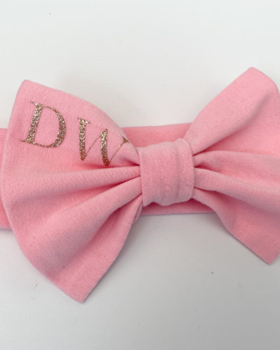 Itty Bitty Pink Personalised Bow Headband