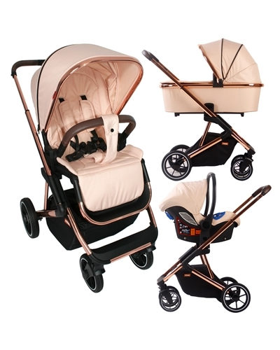 Christina Milian Rose Gold and Blush Belgravia Travel System